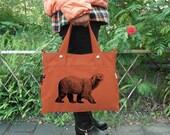 June On Sale 10% Off Orange canvas messenger bag / shoulder bag / laptop bag / brief case / diaper bag / tote bag / travael bag