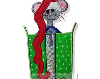 Christmas Mouse Applique