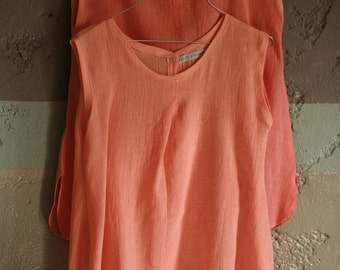 Linen cotton mix squere top available in variety of colors, hand colored