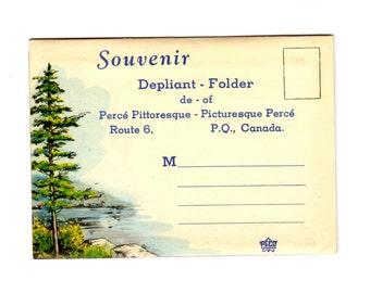 Vintage Perce Quebec Canada Postcard Souvenir Folder