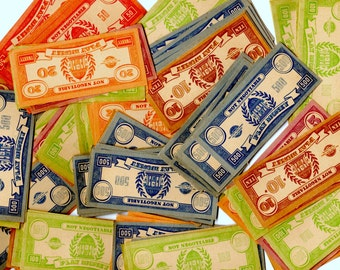 25 Piece Vintage Play Money Lot - Mixed Media, Altered Art, Assemblage, Collage, Scrapbooking, Journal Supplies