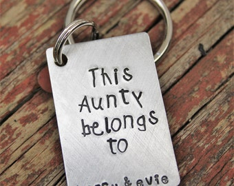 Custom Keychain for Aunt, personalized gift for aunt, keychain for uncle, Christmas Gift for Aunt, Christmas gift for Uncle, Custom Keychain