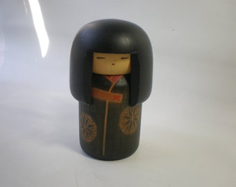 Vintage Wood Japanese Kokeshi Doll Figure