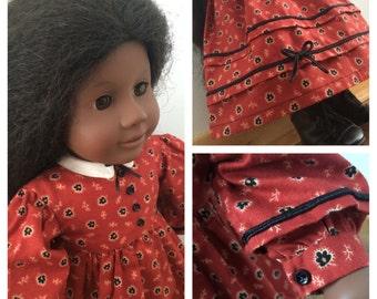 1860s Civil War Doll Dress fits 18 inch Dolls