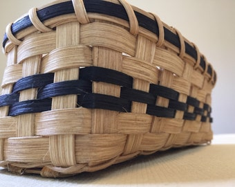 Handmade Cracker Basket - Black
