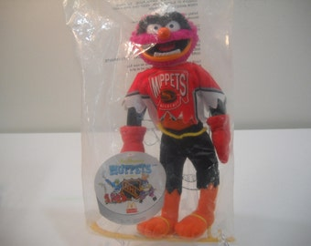 Vintage Muppets Plush Toy Jim Henson Oscar The Grouch Sesame Street NHL McDonalds New In Package FREE SHIPPING
