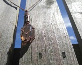 Tumbled Fluorite Hemp Necklace