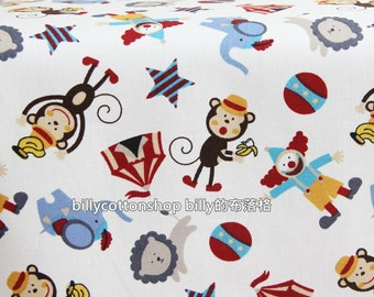 w877 - circus fabric - cotton linen fabrics - Half Yard ( 3 color to choose )
