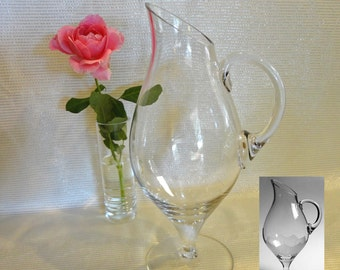 Rosenthal Clear Crystal Beverage Pitcher 44 Ounce Capacity