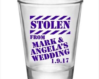 48 Personalized Wedding Favor 1.5oz Shot Glasses Custom Funny Wedding Designs