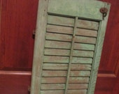 Antique Wood Shutter With Hooks