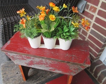 Distressed Barn Wood Bench/Footstool/Plant Stand