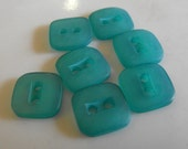 7 Teal Center Rectangle Square Buttons Size 7/16""