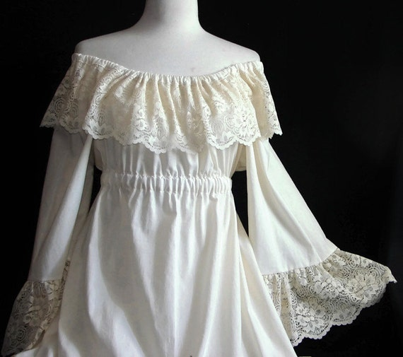 Victorian Peasant Dress Custom Wedding Dress Plus Size Wedding