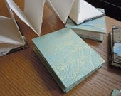 Small Turquoise or Black and Gold Waves  Accordion Fold Sketchbooks