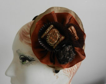 Chocolate Candy Delight FrouFrou Headband Hat