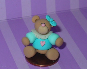 Tessie a Miniature Teddy Bear in Blue