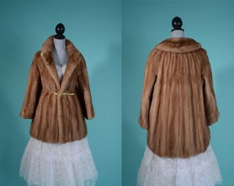 Vintage 1950s Mink Clutch Coat - Autumn Haze Ed Hamilton Furs - Winter Wedding Fashions