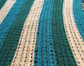 Sea Breeze Mile a Minute Afghan
