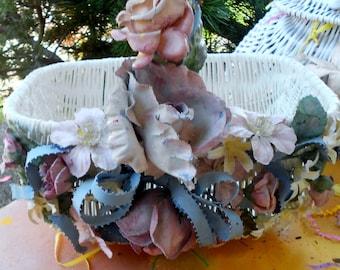 Flowered Hollywood regency Easter day basket