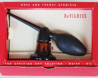 DeVILBISS  Nose & Throat Atomizer With Instructions Brand New In Original Box UNUSED