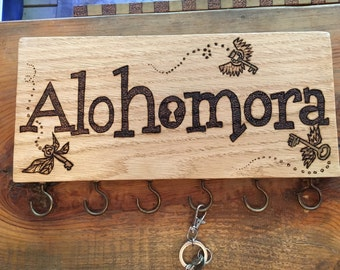 Alohomora - Handmade Plaque for hanging keys