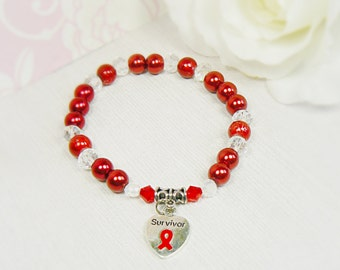Heart Disease, Heart Disease Awareness, Heart Disease Awareness Bracelet, Heart Disease Bracelets, Stroke Awareness, Stroke Bracelet