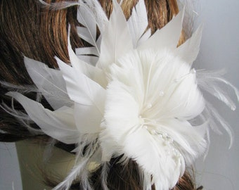 Hair Accessories, Hair Jewelry, Ivory fascinator, crystal hair band, rhinestone comb, headpieces
