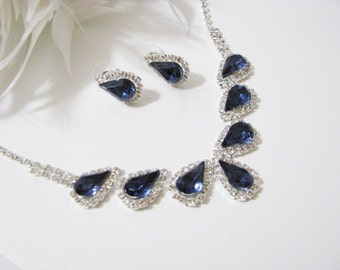 2 piece set Wedding Necklace Backdrop Necklace Bridal Necklace - Bridal Jewelry - Wedding Necklace - bridal set- Backdrop Bridal Necklace