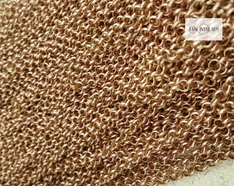 Wholesale-50 feet fantastic  rolo copper chains-without plated chains-F1994chuntong