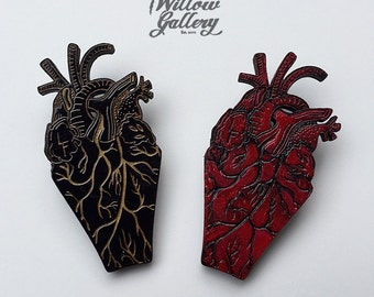 My Coffin heart Brooch