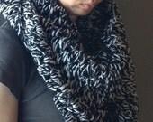 Northlands Blanket Scarf Chunky Knit Crochet Scarf Warmer Cowl Infinity Loop Neck Infinity Men Women