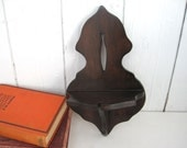 Vintage Wood Shelf Small Wooden Wall Knick Knack Spoon Holder Candle Sconce Farmhouse Rustic Decor