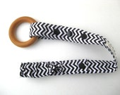 Chevron TOY LEASH - Bottle Leash- Toy TETHER- Chevron Toy Clip- Sophie Leash- Baby Carrier Strap- Stroller Toy Strap or Toy Saver- Baby Gift