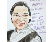 PRE ORDER Rosa Parks portrait and inspiring quote