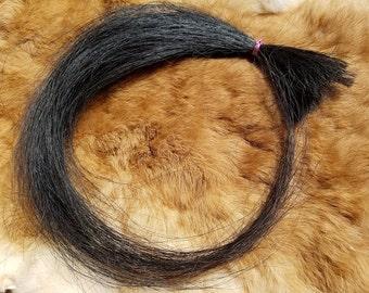 Real Horse Hair - Black - Cruelty Free