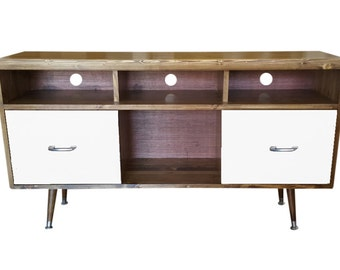 Mid Century Media Console TV with Drawers