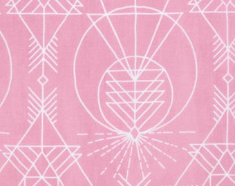 1 Yard Native Pink, Wander Collection by Joel Dewberry, Quilting Cotton, Modern Tribal Fabric