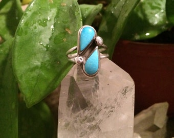 Little Double Stone Turquoise Ring