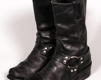 Men's Black MOTORCYCLE Boots Size 7 M