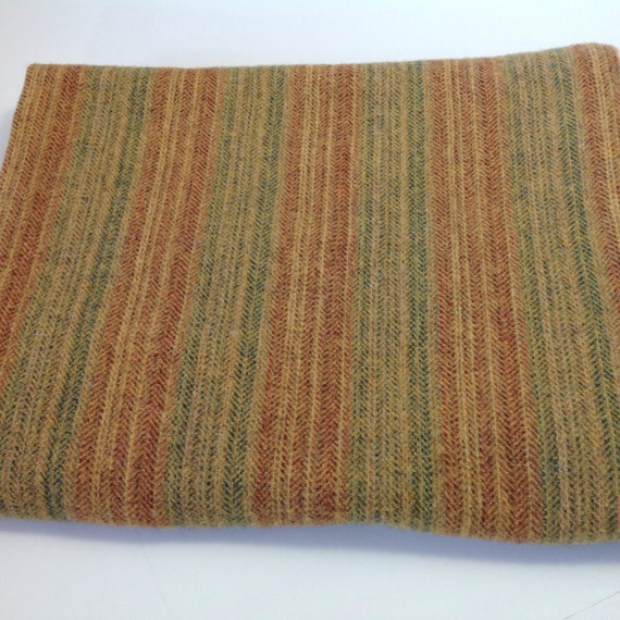 Golden Summer Stripe, Wool Fabric for Rug Hooking and Appliqué, One yard, Half Yard, Quarter Yard, W135