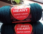Red Heart Super Saver, 8 oz. Dark Teal worsted weight