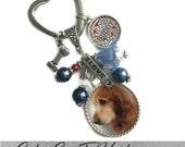 "Custom Pet Photo, Memory Photo Necklace Or Keychain With Dog Bone Charm with image/photo charm. ""I Love My Dog"" Name Plate l, Dog, Cat,"