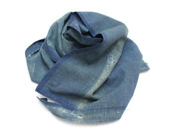 Boro. Japanese Indigo Cotton. Artisan Aizome Boro Textile. Vintage Fabric (Ref: 1322)