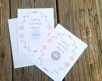 Scratch-Off Card LAUREL: Reveal role Will you be my Bridesmaid, Maid of Honor, Matron of Honor card, wedding party, proposal, invitation