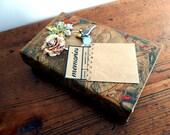 Travel Keepsake or Memento Box . Faux Book . Travel Journal