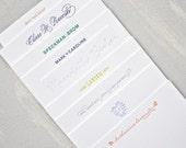 custom letterpress personal stationery // set of 40