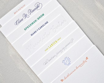 custom letterpress personal stationery // set of 40
