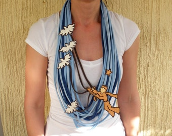 PETIT PRINCE statement necklace, little prince scarf art gift