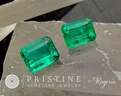 Emerald Matching Pair for Earrings Brazilian Emeralds Loose Gemstone Over 4.50 Carats May Birthstone